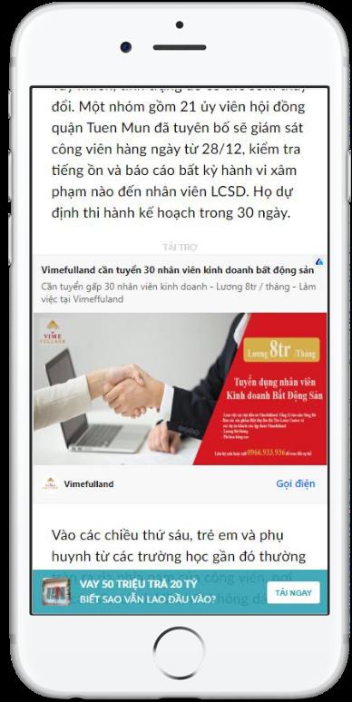 quảng cáo bài viết